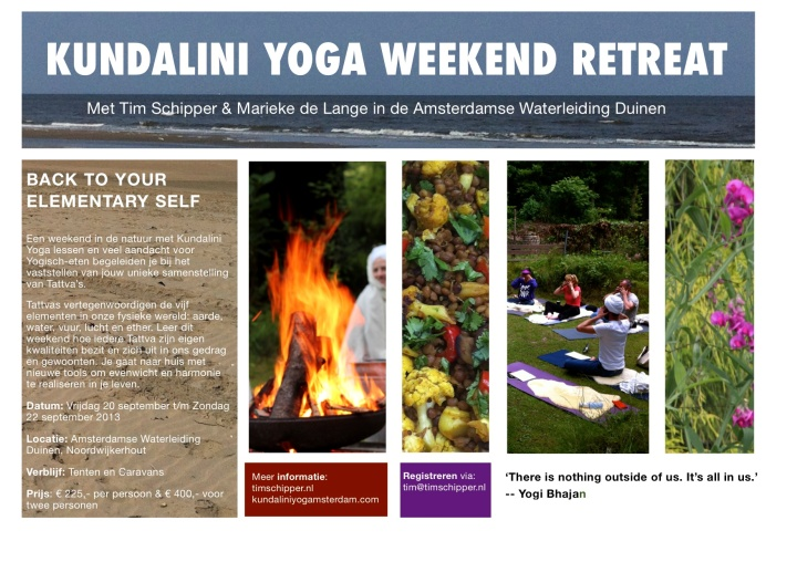 Weekend Retreat - Back to your Elementary Self