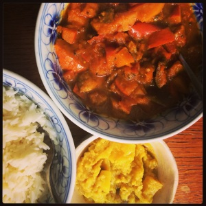 Pompoen Aubergine Curry
