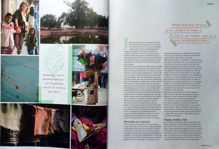 Kundalini Yoga Amsterdam in Nepal en Happinez blz 2